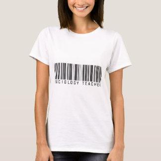 T-shirt Code barres de professeur de sociologie