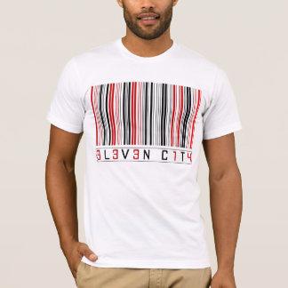 T-shirt Code barres d'onze villes