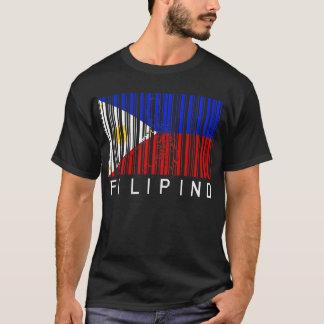 T-shirt Code barres philippin de drapeau