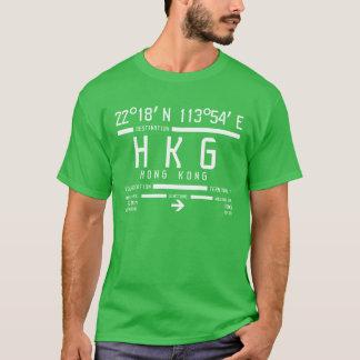 T-shirt Code d'aéroport international de Hong Kong