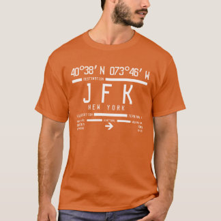 T-shirt Code d'aéroport international de New York JFK