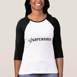 T-shirt Code en avant de sarcasme de barre oblique