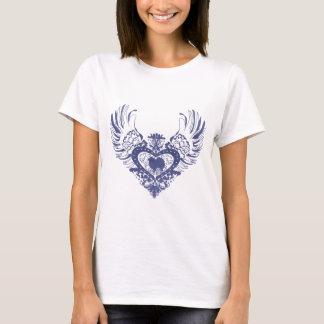 T-shirt Coeur à ailes américain de chien esquimau