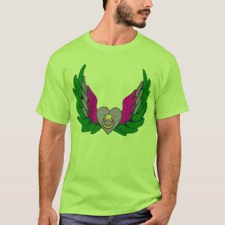 T-shirt Coeur à ailes par Sufi vert