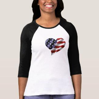 T-shirt Coeur américain