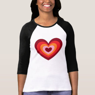 T-shirt coeur antique