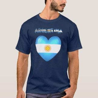T-shirt Coeur argentin