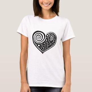 T-shirt Coeur /blk de Paisley