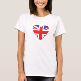 T-shirt Coeur britannique de drapeau
