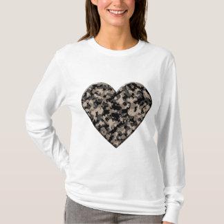 T-shirt Coeur camouflé