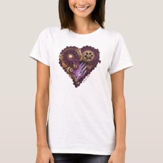 T-shirt Coeur CardioArt-Assemblé en pourpre et or II