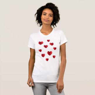 T-shirt Coeur chaleureux de coeurs