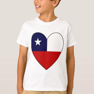T-shirt Coeur chilien Valentine de drapeau