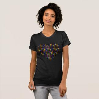 T-shirt Coeur coloré brillant