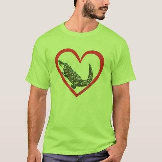 T-shirt Coeur d'alligator