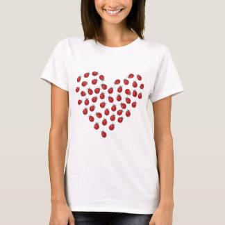 T-shirt Coeur d'amour de coccinelle