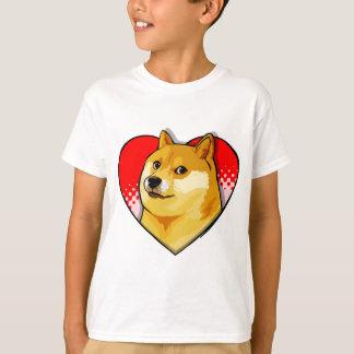 T-shirt Coeur d'amour de Meme de doge de personnaliser