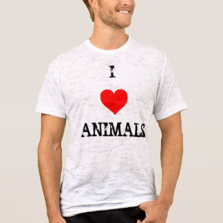 T-shirt coeur d'amour, I, ANIMAUX