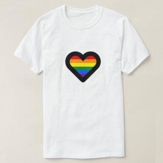 T-shirt Coeur d'arc-en-ciel