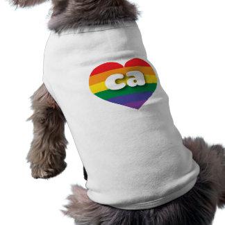 T-shirt Coeur d'arc-en-ciel de gay pride de la Californie