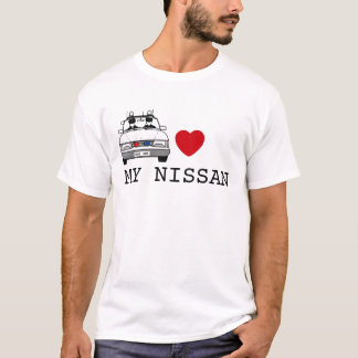 T-shirt COEUR de cannette de fil mes nissans
