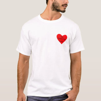 T-shirt coeur de club de tirette