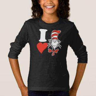 T-shirt Coeur de Dr. Seuss Valentine   I le chat dans le