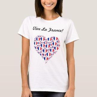 T-shirt Coeur de drapeau de la France d'amour de la France