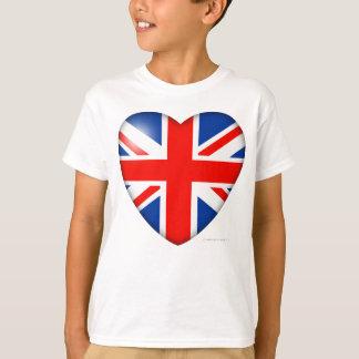 T-shirt Coeur de drapeau de la Grande-Bretagne