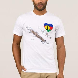 T-shirt Coeur de drapeau de la Nouvelle-Calédonie et