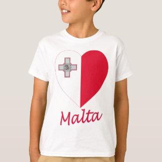 T-shirt Coeur de drapeau de Malte