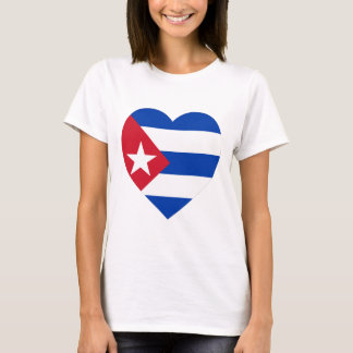 T-shirt Coeur de drapeau du Cuba
