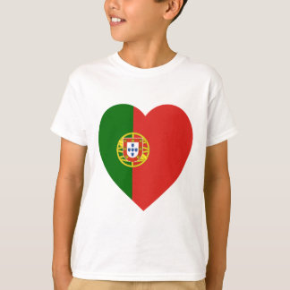 T-shirt Coeur de drapeau du Portugal