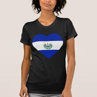 T-shirt Coeur de drapeau du Salvador