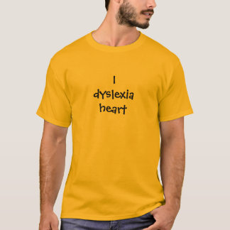 T-shirt Coeur de la dyslexie I