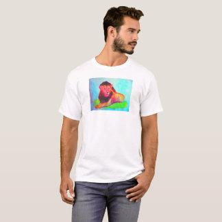 T-shirt Coeur de lion - grand chat abstrait coloré