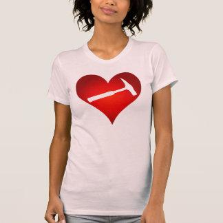 T-shirt Coeur de marteau de roche
