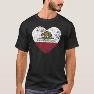 T-shirt coeur de Monterey de drapeau de la Californie