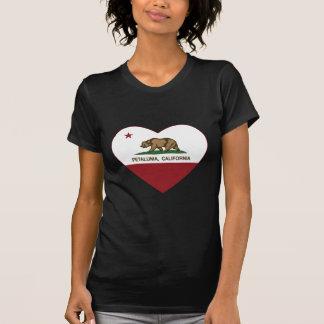 T-shirt coeur de petaluma de drapeau de la Californie