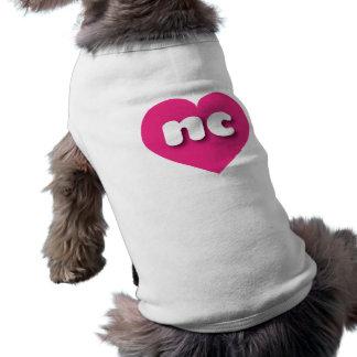 T-shirt Coeur de roses indien de la Caroline du Nord -