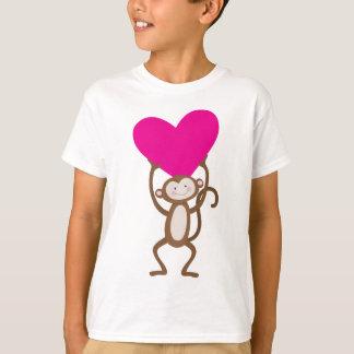 T-shirt Coeur de singe