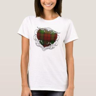 T-shirt Coeur de tartan de Kerr
