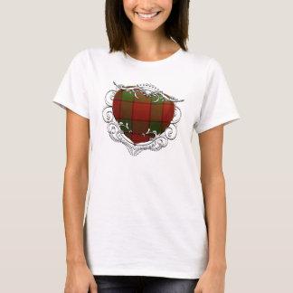 T-shirt Coeur de tartan de Maxwell