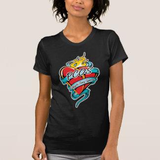 T-shirt Coeur de tatouage de PCOS