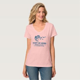 T-shirt Coeur de V-Cou de fines herbes d'école d'herbes