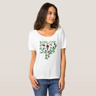 T-shirt Coeur des roses