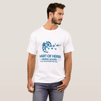 T-shirt Coeur du logo T des hommes de fines herbes d'école