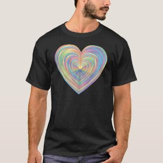 T-shirt Coeur en pastel