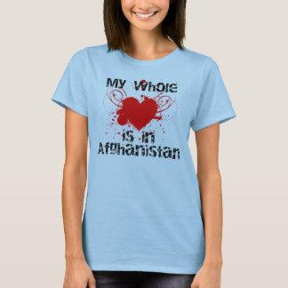 T-shirt Coeur entier (Afghanistan, rouges)