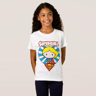T-Shirt Coeur et logo de Chibi Supergirl Starburst